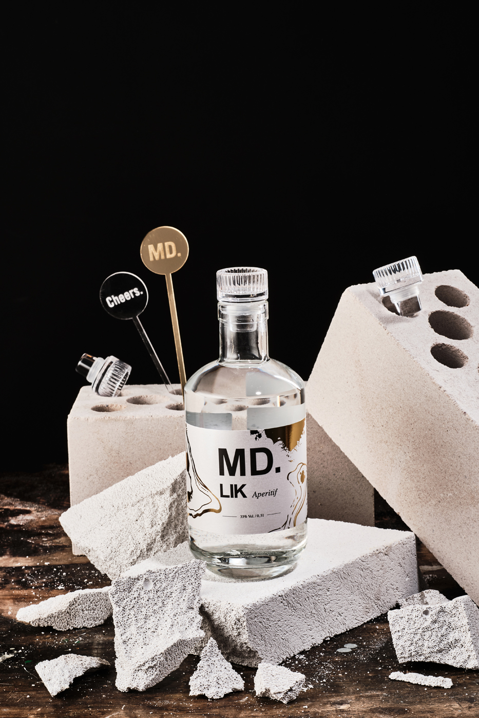 MD.LIK mit Cocktailsticks